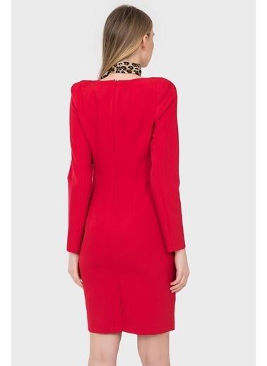 Uzun Kollu Kalem Elbise-İroni